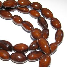 Brown Bombona Beads, 15 Inch Strand, Organic Beads, Natural Beads, Palm Beads, EcoBeads