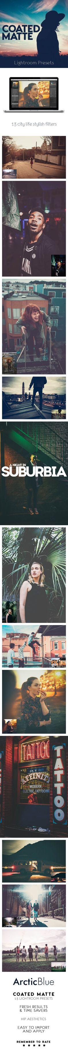 13 Coated Matte Lightroom Presets #photography Download: http://graphicriver.net/item/coated-matte-lightroom-presets/13376320?ref=ksioks