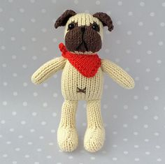 Ravelry: Petra's Pug pattern by Boo Biloo  Finished size: Approx. 12cm/5 inches tall