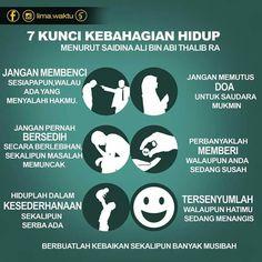 According to Saidina Ali Ibn Abi Thalib RA, 7 types of happiness are