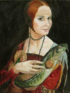 artist Karaguylyan Suren, The lady of the burbot (Sorry, Leonardo!)