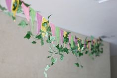 Bunting from a Fairy Garden Birthday Party via Kara's Party Ideas | KarasPartyIdeas.com (14)