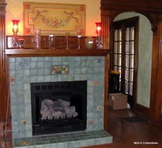 Pewabic Pottery Tile Fireplace Surround | Pottery | Pinterest ...
