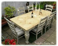 157.  Huge Extending Pine Table and Chairs
