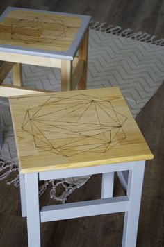 {Trucs & Astuces} Mes premiers pas en pyrogravure - DIY - IKEA HACK - Tabouret ODDVAR