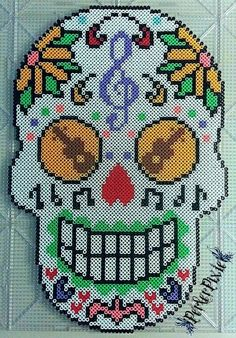 Musical Sugar Skull by PerlerPixie on DeviantArt