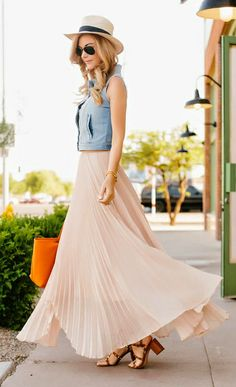 1000  images about Maxi Skirts on Pinterest | Chambray, Brown belt ...