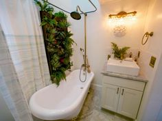 Give your powder room a refresh | HGTV >> http://www.hgtv.com/design-blog/shows/tiny-house-bathrooms-packed-with-style?soc=pinterest