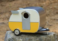 Vintage Camper Birdhouse by jumahl on Etsy-- this would be perfect on the outside of our tiny house!