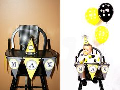 Bold Black & Yellow 1st BEE-Day Party