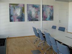 Rikke Laursen moderne abstracte paintings | Exhibition, HOFOR - see paintings