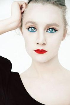 """How to Pick Your Best Eyeliner Color -- Komatsu chose M.A.C Cosmetics' Fluidline in Blue Peep because it was an electric blue-green that matched the """"sapphire blue"""" she saw in Ronan's eyes."""