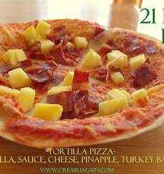 Looks De-Lish! 21 Day Fix healthy pizza! #21DayFix