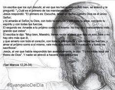 """#EvangelioDelDia ... """"Escucha, Israel: el Señor nuestro Dios es el único Señor"""""""