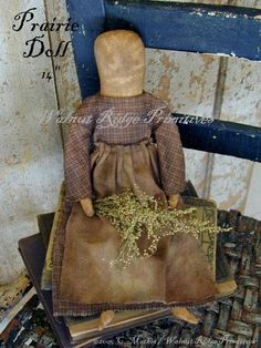 Primitive Sewing Pattern Prairie Doll by Walnut by wrprimitives, $10.00