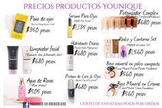 Precio productos Younique