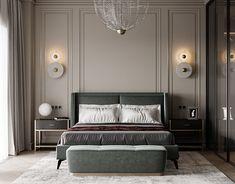 Wabi Sabi Bedroom on Behance Home Room Design, Bed Design, Home Interior Design, Master Bedroom Interior, Home Decor Bedroom, Classy Bedroom Decor, Contemporary Bedroom, Modern Classic Bedroom, Luxurious Bedrooms
