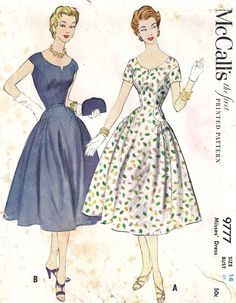 Vintage Sewing Pattern Dress Simplicity 1161 | 1950s | Pinterest ...