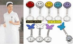 Nurses Fob Watch Butterfly Smiley Face Stainless Steel Fun Nurses Fob Watches Only £3.10 with free delivery from ebay
