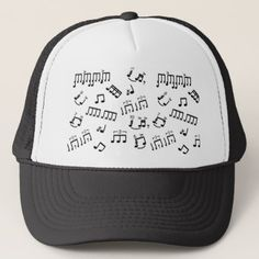 Drummers Hat Percussion Drum Player Musical Notes - diy cyo customize create your own personalize