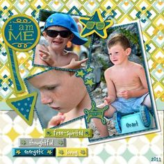 Be Young Boy Digital #Scrapbooking Layout from Creative Memories  Detailed Directions from the Creative Memories Project Center,  May 09, 2012: http://projectcenter.creativememories.com/
