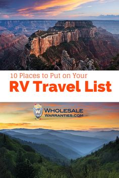 10 Places to Travel to in 2015 with Your RV