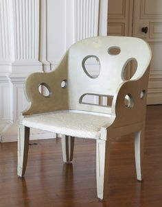 Armchair from the Collection of Eileen Gray, rue Bonaparte, Paris I believe Eileen Gray was an Irish Designer please correct me if I am wrong..Ann Wardley
