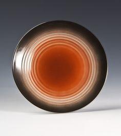 Dinner plate by Nora Gulbrandsen for Porsgrund Porselen. Dinner Plates, Decorative Plates, Porcelain, Pottery, Clay, Machine Age, Design, Mustard, Cinnamon