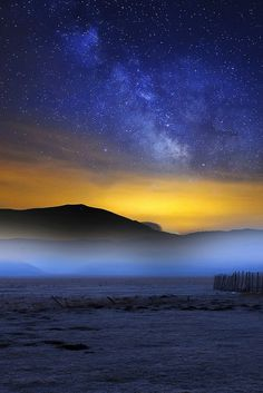 Sibillini Mountains National Park by Night ~ Umbria, Italy