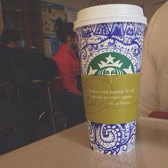 """""""follow your passion. it will lead you to your purpose.""""  #starbucks @starbucks #Padgram"""