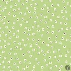 Sew Daisy Green 1 Yard Cut in Sew Cherry 2 New Line by Lori Holt for Riley Blake Fabrics by CountryRoadQuilts on Etsy Green Wallpaper, Iphone Background Wallpaper, Aesthetic Iphone Wallpaper, Aesthetic Wallpapers, Mint Green Aesthetic, Jelly Roll Patterns, Bedroom Wall Collage, Geometric Flower, Pink Leaves