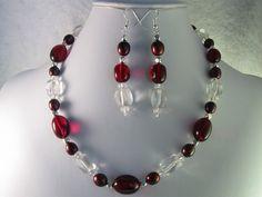Ruby Red Garnet Quartz Crystal Quartz Red by NaturesJewelsByVina