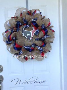 Houston Texans Wreath by CustomWreathDecor on Etsy