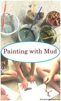 Mud Painting Fun Messy Art for Kids is part of Painting activities - Looking for a fun process art activity Mud painting is a fun sensory experience that is perfect for kids of all ages Learn how to make colorful mud paint Forest School Activities, Preschool Art Activities, Painting Activities, Outdoor Activities For Kids, Nature Activities, Outdoor Learning, Learning Activities, Process Art Preschool, Children Activities