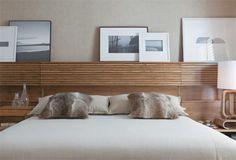 cabeceira horizontal de madeira