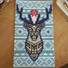 Deer hama perler bead art by Maria Benedicte
