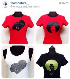NATURAL HAIR TEE SHIRTS; cute shirts!!! I need some natural hair shirts to rock this summer!!!