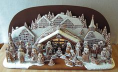 GINGERBREAD HOUSE~ GINGERBREAD NATIVITY SCENE