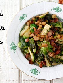 Sauteed Brussels Sprouts with Apples and Bacon from Weelicious: Only 3 ingredients! | Weelicious.com