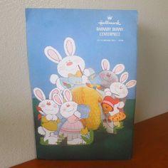 NOS centerpiece, vintage Hallmark Easter, 1970's by MyRetroAtomicLife on Etsy