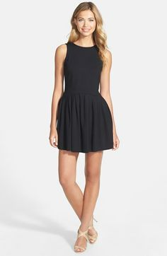 Bow Detail Ponte Fit & Flare Dress