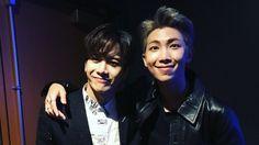 Awww Jackson and Namjoon at AMA's ❤ // Pinterest @leanawitmer