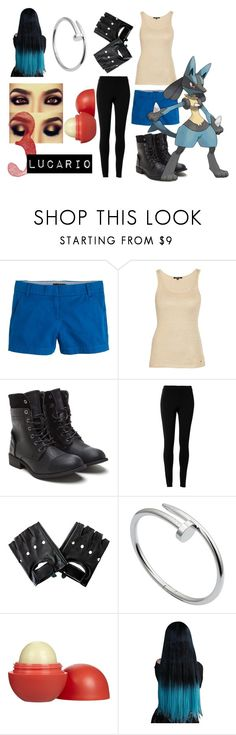 """""""Lucario"""" by meow-monster ❤ liked on Polyvore featuring J.Crew, Morgan, Max Studio, Cartier and Eos"""