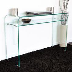 Console en verre courbé transparent - L110xP35xH75cm HEGOA 169.00 €