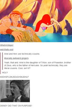 Ariel and Hercules- technically second cousins