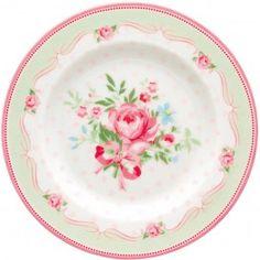 GreenGate Kleiner Teller - Small Plate - Amelie White 15 cm