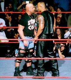 Stone Cold Steve Austin and The Rock #WWE http://www.youtube.com/FatalityW2