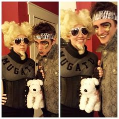 Mugatu and Derek Zoolander halloween costume Halloween Dress, Halloween Kostüm, Couple Halloween Costumes, Halloween Cosplay, Holidays Halloween, Cool Costumes, Adult Costumes, Cosplay Costumes, Costume Ideas