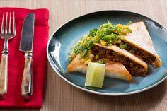 Mexican Beef Quesadillas with Creamy Corn & Shishito Pepper Salsa #blueapron