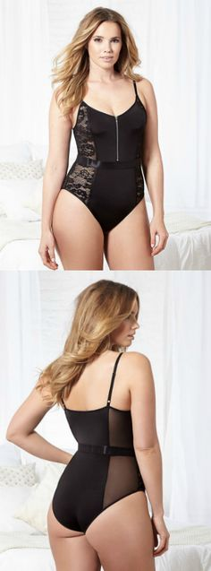 31795f1a8d8 Let this black lacy teddy be the next update to your lingerie drawer!